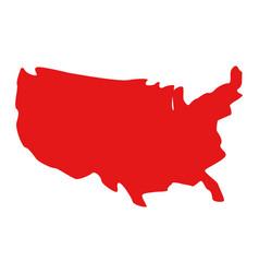 united states map design vector image