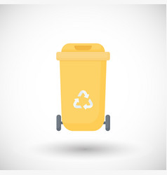 waste container flat icon vector image