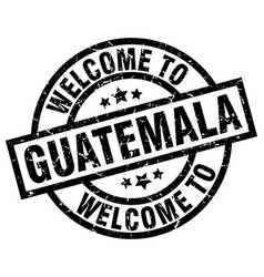 Welcome to guatemala black stamp vector