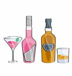 Whisky and cocktail vector