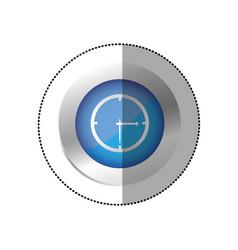 blue symbol clock icon vector image