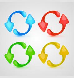 icon refresh color set vector image vector image
