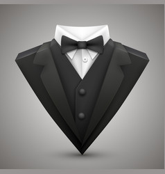 triangle jacket with a bow tie vector image vector image