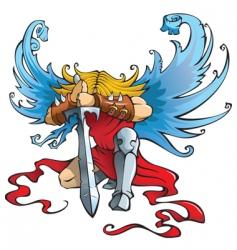 angel the warrior vector image vector image