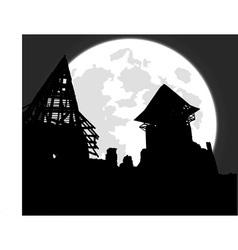castle ruins vector image vector image