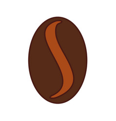 Coffee grain isolated icon vector
