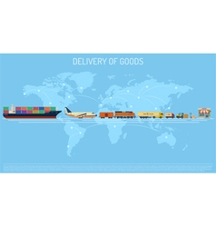 Delivery of Goods Concept vector image vector image