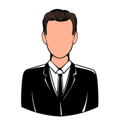 man in black suit icon icon cartoon vector image vector image