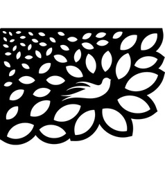 Ornaments Leaf Flower Silhouette vector image vector image