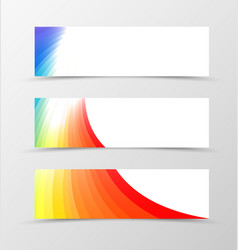 Set of banner rainbow design vector image vector image