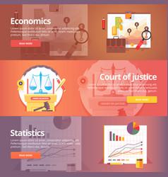 social science of economics political economy vector image vector image