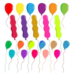 Balloons set on white background vector image vector image
