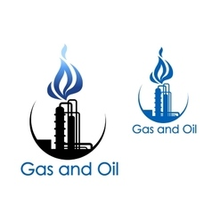 Gas and oil industry symbol vector image vector image