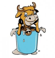 little cow vector image