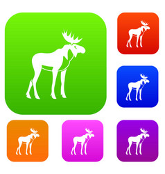 moose set collection vector image