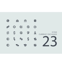Set of currency exchange icons vector image