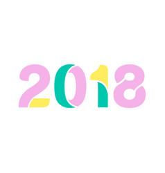 2018 number pastel lettermark graphic design vector