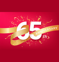 35th anniversary celebration banner template vector image