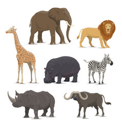African safari animal icon of wild savanna mammal vector