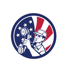 american telephone installation repair technician vector image