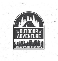 away from city outdoor adventure vector image