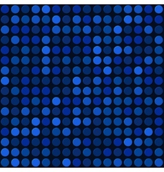 Blue Abstract Seamless Background with Bubbles vector image