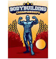 Bodybuilder poster vector