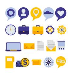 bundle social media marketing vector image