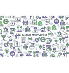 business management banner vector image