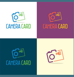 camera card logo and icon vector image