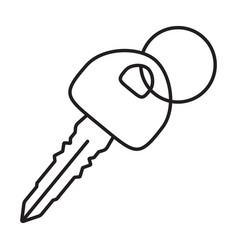 Car key vehicle or automobile key line art icons vector