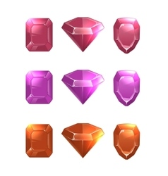 Cartoon of gems and diamonds vector image