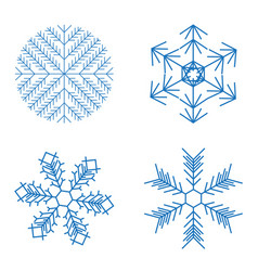 christmas snowflakes on white background vector image