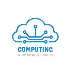 cloud computing hosting icon logo design hosting vector image