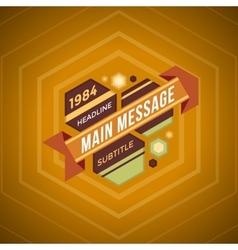 color flat retro futuristic banner vector image