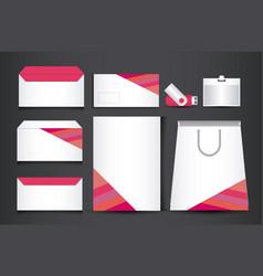 corporate identity branding template design vector image