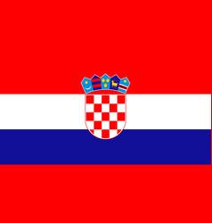 Croatia national flag zagreb vector