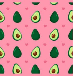 cute beauty avocado and hearts vector image