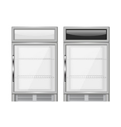 display refrigerator small size merchandiser vector image