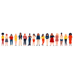 diverse international group of happy women or vector image