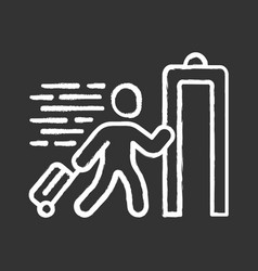 express entry chalk icon passenger passing x-ray vector image