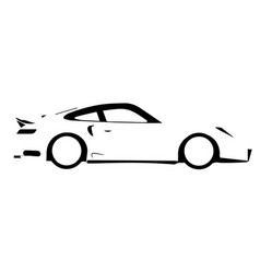 Fast car outline vector