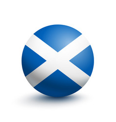 flag of scotland in the form of a ball vector image