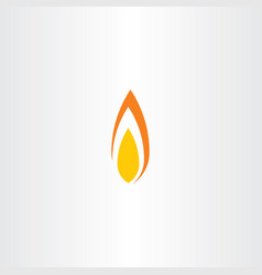 flame fire icon symbol element logo vector image