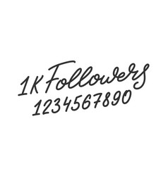 Followers template for social media vector