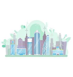 futuristic megapolis modern city skyscraper vector image