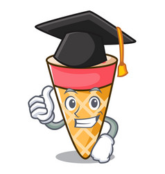 Graduation ice cream tone character cartoon vector