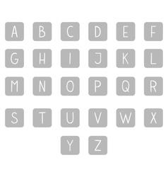 Gray hand drawn full alphabet vector image