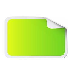 Green sticker on white vector image