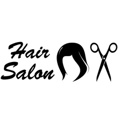 hair salon icon on white backdrop vector image